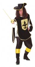 Three Musketeers Fancy Dress Costume